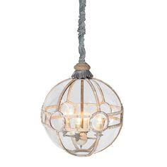 Glass globe hanging light fitting, Stunning piece of work £959.99