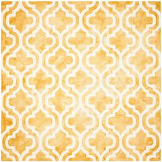 Dip Dye Gold/Ivory 7 ft. x 7 ft. Square Area Rug