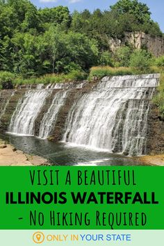 If you're looking to enjoy nature or get some great photographs without the need for a long hike, travel to Thunder Bay Falls in Illinois. You can practically drive right up to this gem near Lake Galena. Spring Break Vacations, Vacation Trips, Vacation Ideas, Cool Places To Visit, Places To Travel, Galena Illinois, Travel Oklahoma, United States Travel, New York Travel