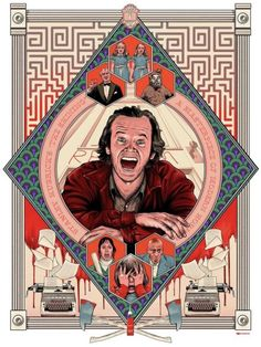 """My tribute to the great Stanley Kubrick's """"The Shining"""". The first poster from my personal project """"One Director Three Movies"""" – a series of posters inspired by three my favorite movies from one director. Horror Movie Posters, Horror Icons, Movie Poster Art, Horror Films, The Shining Poster, Stanley Kubrick The Shining, Montag Motivation, Tv Movie, Halloween"""
