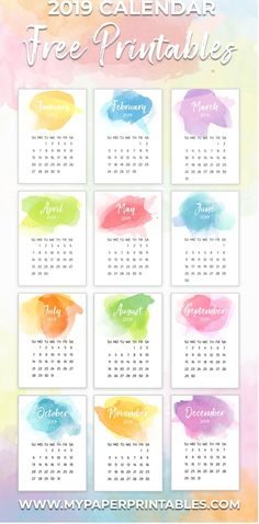 9 best 2019 small calendars images rh pinterest com