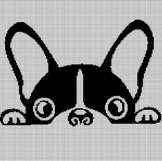 """Awesome """"boston terrier dogs"""" detail is offered on our website. Afghan Crochet Patterns, Cross Stitch Patterns, Giraffe Crochet, Dog Crochet, Boston Terrier Love, Boston Terriers, Terrier Dogs, Dog Pattern, Knitting Charts"""
