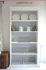 Paint Me White: French Provincial Bookcase