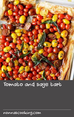 Tomato and sage tart | Cooking for vegetarian friends? Why not whip up this bright and beautiful tomato tart. It's a simple recipe that's quick to prepare, and won't have the carnivores at your table complaining.