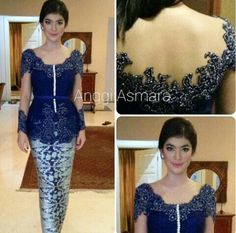 Indigo kebaya by Indonesian Designer ANGGI ASMARA