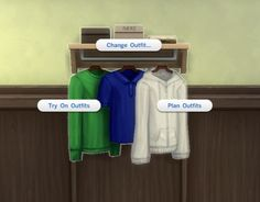 Mod The Sims: Wall-Mounted Dressers by plasticbox • Sims 4 Downloads