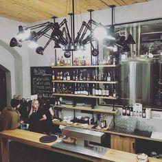 Dear Ingo by Ron Gilad via Moooi   www.moooi.com   #black #lighting #interior #design #cafe #restaurant #functional #hospitality