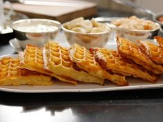 "Overnight Belgian Waffles (Cooking for Jeffrey: Big Breakfast Buffet) - Ina Garten, ""Barefoot Contessa"" on the Food Network. What's For Breakfast, Breakfast Dishes, Breakfast Recipes, Brunch Dishes, Mexican Breakfast, Brunch Food, Second Breakfast, Breakfast Sandwiches, Breakfast Pizza"