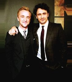 Tom Felton and James Franco. Too much hotness for one picture.