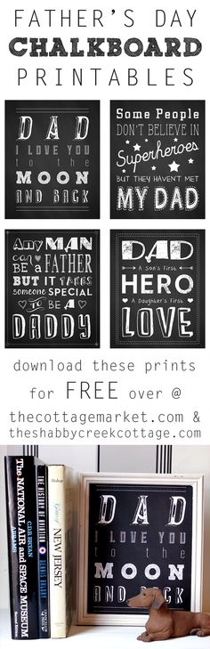 Make it simple. This  Father's Day Chalkboard Printable is cute and can be personalized to your father and Father's Day Craft Ideas on Frugal Coupon Living.