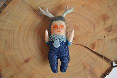 Elvy / Muñeco Handmade / mini por Mandarinasdetela en Etsy