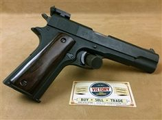 This is a super cool example of a slightly modified, but rare #Kongsberg #Colt #1914 manufactured after #WWII in late #1945, SN:311xx. This could be a candidate for #restoration. There are only just several hundred of these manufactured after WWII ended. (The last SN produced for the nazi regime was 30534.)Loading that magazine is a pain! Get your Magazine speedloader today! http://www.amazon.com/shops/raeind