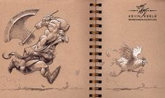 Wonderful sketchbook drawing by kevin keele (1) in Illustration & Painting