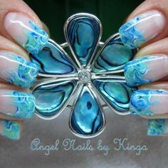 BEAUTIFUL blue nails!