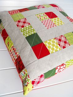 Well, I finished up my Christmas pillows a couple days ago, and I took a few minutes to take some photos this afternoon. I liked every shot,. Christmas Cushions, Christmas Pillow, Christmas Christmas, Patchwork Cushion, Quilted Pillow, Cushions To Make, Sewing Pillows, Christmas Sewing, Decorative Pillow Covers