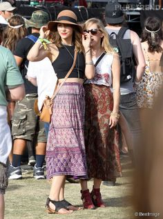 Katharine McPhee & her friend. Great styles. (@ Coachella)