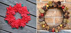 Guirlandas diferentes #xtimas #natal #christmas http://vilamulher.terra.com.br/artesanato/galeria-de-ideias/guirlandas-de-natal-criativas-17-1-7886462-279.html