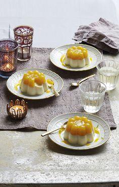 Little mango & lime panna cottas