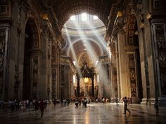 St. Peter's Basilica, Vatican City.  It was incredible.  So huge.