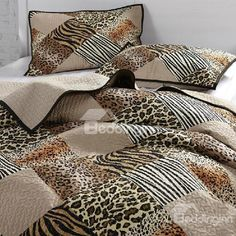 New Arrival Sexy Brown Leopard and Zebra Patterns Bed in a Bag Sets Bed In A Bag, Brown Leopard, 3 Piece, Bedroom, Modern, Bags, Patterns, Sexy, Home
