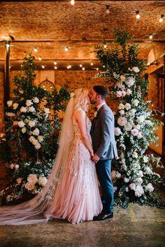 The Wool Tower wedding Antrim Northern Ireland, floral ceremony backdrop Pink Blue Weddings, Real Weddings, 1st Wedding Anniversary, Ceremony Backdrop, Bridesmaid Dresses, Wedding Dresses, Photography Portfolio, Beautiful Soul, Blush Pink