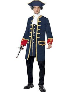 Smiffys Pirate Commander Costume BlueWhiteRed Medium * Be sure to check out this awesome product.