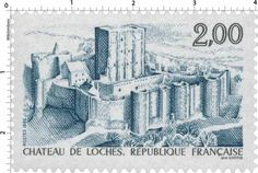 Timbre : 1986 CHÂTEAU DE LOCHES | WikiTimbres