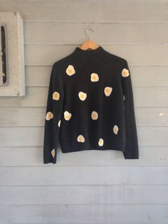 fried egg sweater / grey / cashmere by butterbabes on Etsy