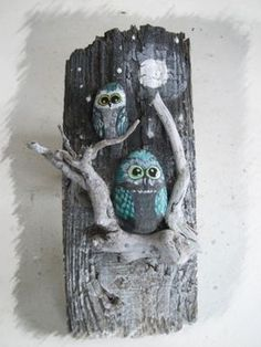 80 Creative DIY Home Decor Ideas with Pebbles and River Rocks That Will Find a Good Use for Y. - 80 Creative DIY Home Decor Ideas with Pebbles and River Rocks That Will Find a Good Use for Your St - Owl Crafts, Diy And Crafts, Arts And Crafts, Art Rupestre, Art Pierre, Driftwood Crafts, Stone Crafts, Nature Crafts, Pebble Art