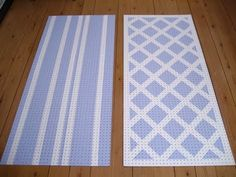 {a ¼ to}: pretty painted pegboards!-love the lattice work one