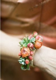 Chasing Rainbows Kissing Frogs: Wedding Wrist Corsage