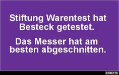 Stiftung Warentest hat Besteck getestet..