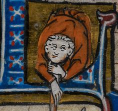 Detail from medieval manuscript, British Library Stowe MS 17 'The Maastricht Hours', f62v