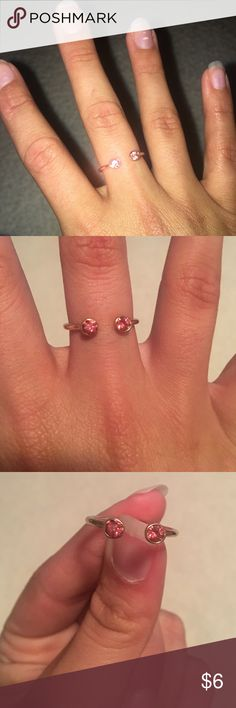 Pink Ring Never worn, bought for fun. Turns out I don't really wear rings. Francesca's Collections Jewelry Rings