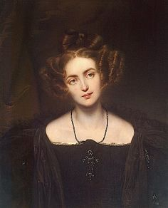 1831 Henriette Gertrude Walpurgis as Donna Anna from Mozart's opera Don Giovanni by Hippolyte Delaroche (State Hermitage Museum - St. Peters...