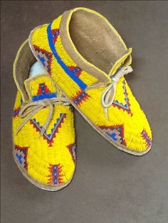 My yellow moccasins made August 2013