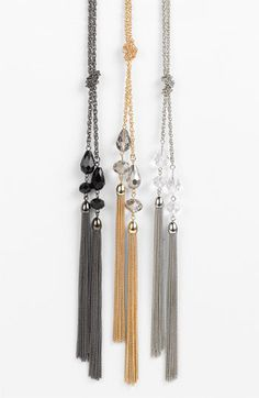 Cara Accessories Tassel Y-Necklace available at #Nordstrom