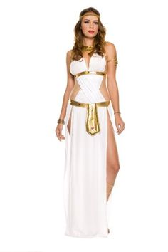 I absolutely love this stunning Womens Egyptian Halloween CostumesRevealing & Sexy Greek Goddess Costume