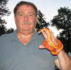 Ric and the corn snake.