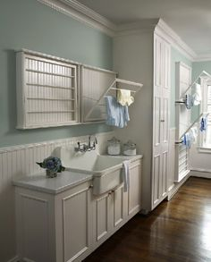 I want to take the fold up clothes drying walls, and put them in some of my other pinned laundry rooms!