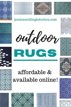 These affordable and stylish outdoor rugs will refresh your patio, deck or porch! Bring color and pattern to your outdoor living space!