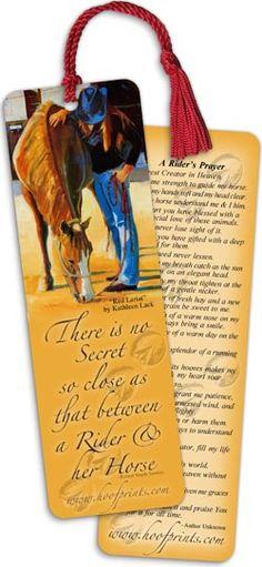 Rider's Prayer Tassel Bookmark