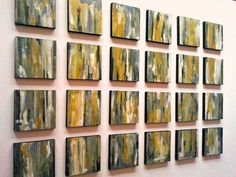 ABSTRACT PAINTiNGS 30x49 Yellow Green Blue White by Lunartics, €180.00