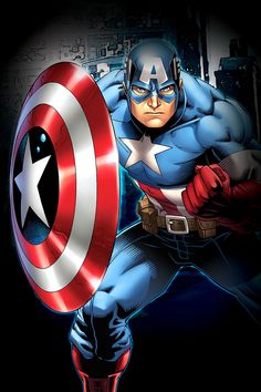 The Avengers Heroes: Captain America $39.99 Stand for freedom and justice by displaying patriotic images of the star-spangled avenger, Captain America. His officially licensed Marvel artwork can shield your wall from dull and uninteresting decor. #Marvel #Superhero #CaptainAmerica #Strength #Protect #Avengers