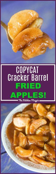 Copycat Cracker Barrel Fried Apples ( Slow Cooker or Instant Pot!) - The Kitchen Magpie