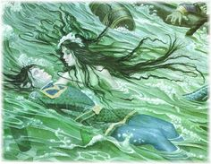 I love charles santore his illistrations for the little mermaid are beautiful…