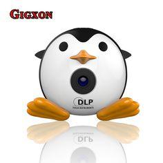 New arrived GIGXON-Q1 adorable penguin mini portable projector