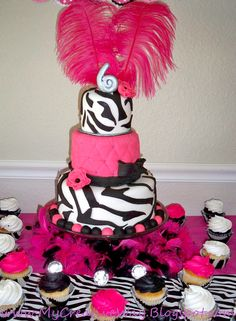 Hot Pink Zebra Diva Birthday Party Ideas...to those involved in my 30th should consider this a hint. :) LoL!