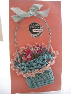 SOLD - Hand Crocheted Vintage SACHET