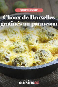 Des choux de Bruxelles gratinés au parmesan, une bonne idée d'accompagnement ! #recette#cuisine#choudebruxelles#parmesan Parmesan, C'est Bon, Cheeseburger Chowder, Soup, Budget Recipes, Brussels Sprouts, Side Dishes, Dish, Soups